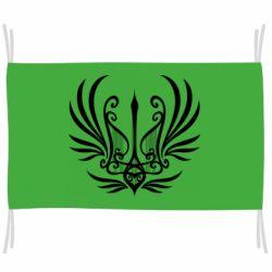 Прапор Герб України у вигляді арфи