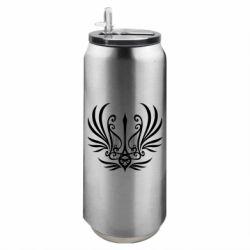 Термобанка 500ml Герб України у вигляді арфи