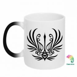Кружка-хамелеон Герб України у вигляді арфи