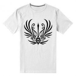 Чоловіча стрейчева футболка Герб України у вигляді арфи