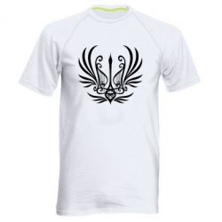 Чоловіча спортивна футболка Герб України у вигляді арфи