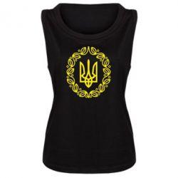Женская майка Герб Украины - FatLine
