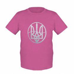 Детская футболка Герб в кругу Голограмма