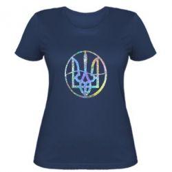 Женская футболка Герб в кругу Голограмма