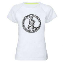 Женская спортивная футболка Герб Війська Запорозького