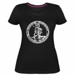 Женская стрейчевая футболка Герб Війська Запорозького