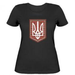 Женская футболка Герб вышиванка - FatLine