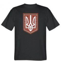 Мужская футболка Герб вышиванка - FatLine