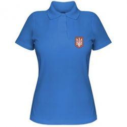 Женская футболка поло Герб вышиванка - FatLine