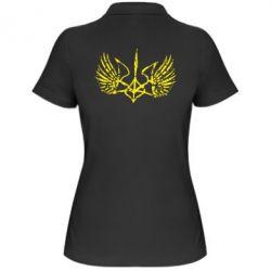 Женская футболка поло Герб з крилами - FatLine