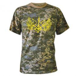 Камуфляжная футболка Герб з крилами - FatLine