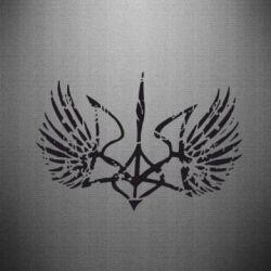Наклейка Герб з крилами - FatLine