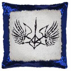Подушка-хамелеон Герб з крилами