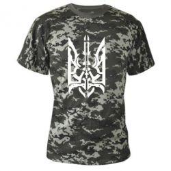 Камуфляжная футболка Герб з металевих частин - FatLine