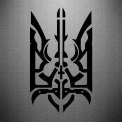 Наклейка Герб з металевих частин - FatLine