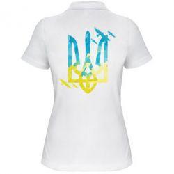 Женская футболка поло Герб з птахами