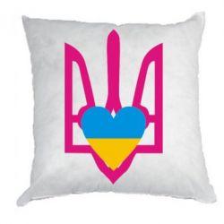 Подушка Герб з серцем - FatLine