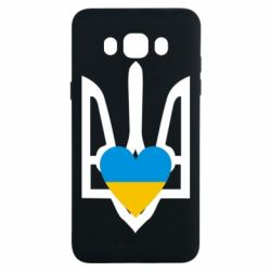 Чехол для Samsung J7 2016 Герб з серцем - FatLine