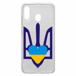 Чохол для Samsung A20 Герб з серцем
