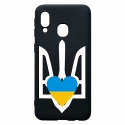 Чохол для Samsung A40 Герб з серцем
