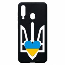 Чохол для Samsung A60 Герб з серцем