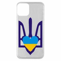 Чохол для iPhone 11 Герб з серцем
