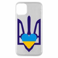 Чохол для iPhone 11 Pro Герб з серцем
