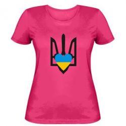 Женская футболка Герб з серцем - FatLine