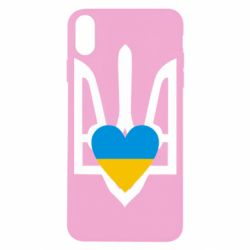 Чехол для iPhone X Герб з серцем - FatLine