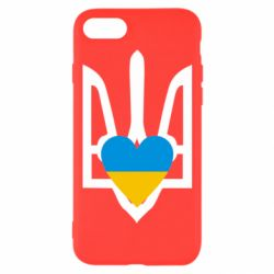 Чехол для iPhone 7 Герб з серцем - FatLine