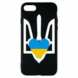 Чехол для iPhone 8 Герб з серцем - FatLine