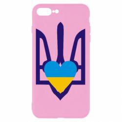 Чехол для iPhone 8 Plus Герб з серцем - FatLine