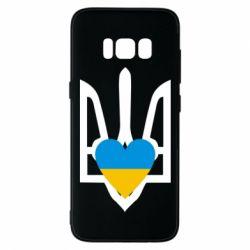 Чехол для Samsung S8 Герб з серцем - FatLine