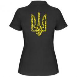 Женская футболка поло Герб з візерунками - FatLine