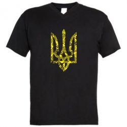 Мужская футболка  с V-образным вырезом Герб з візерунками - FatLine