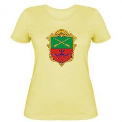 Женская футболка Герб Запоріжжя - FatLine