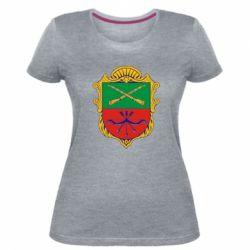 Жіноча стрейчева футболка Герб Запоріжжя