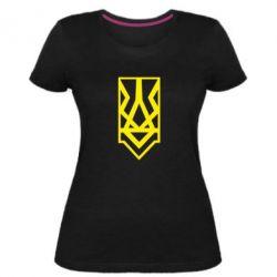 Жіноча стрейчева футболка Герб