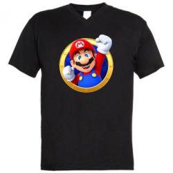 Чоловіча футболка з V-подібним вирізом Герой Маріо