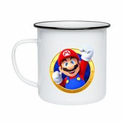 Кружка емальована Герой Маріо
