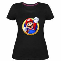 Жіноча стрейчева футболка Герой Маріо