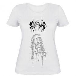 Жіноча футболка Ghostemane gothic paint face