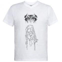 Чоловіча футболка з V-подібним вирізом Ghostemane gothic paint face