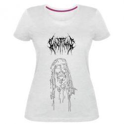 Жіноча стрейчева футболка Ghostemane gothic paint face