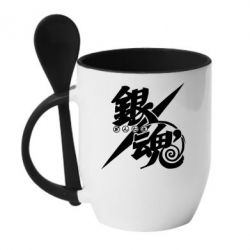 Кружка з керамічною ложкою Gintama