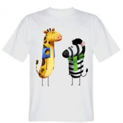 Футболка Giraffe and zebra