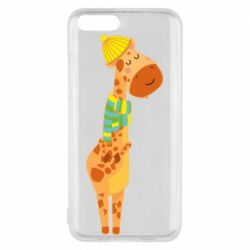 Чехол для Xiaomi Mi6 Giraffe in a scarf