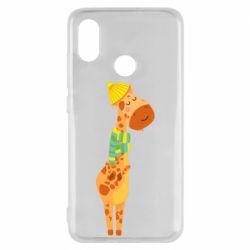 Чехол для Xiaomi Mi8 Giraffe in a scarf