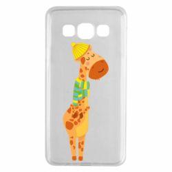 Чехол для Samsung A3 2015 Giraffe in a scarf