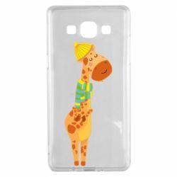 Чехол для Samsung A5 2015 Giraffe in a scarf